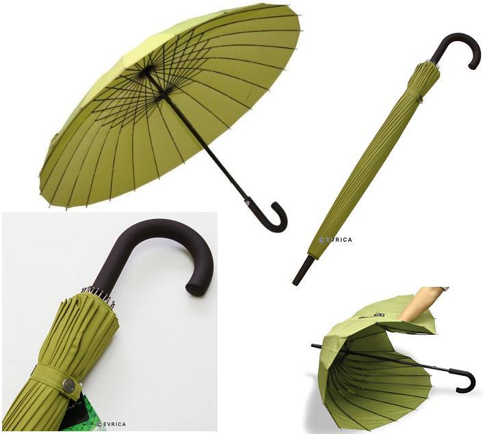 Зонт трость сверхпрочный зелёный mabu