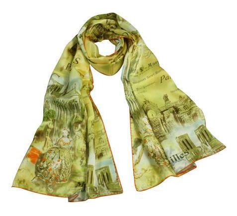 шёлковые шарфы в подарок ко Дню Валентина для женщин