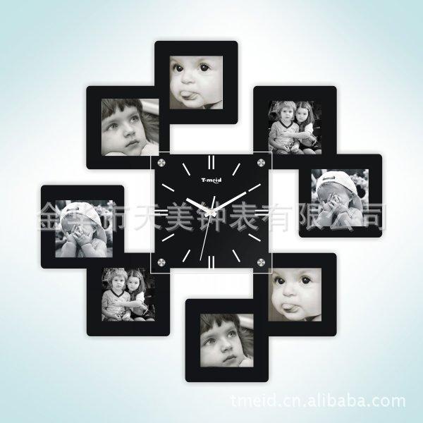 Настенные часы из фоторамок своими руками 268