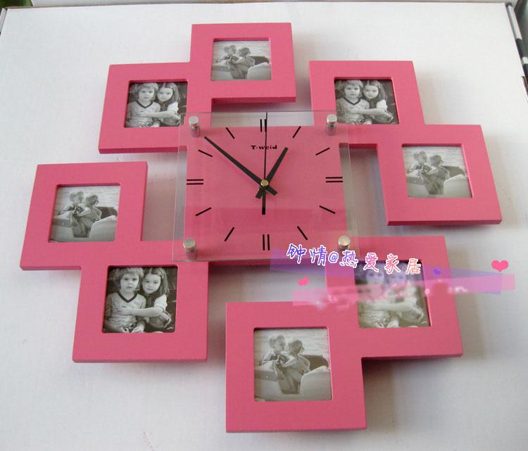 Часы из фото на стену своими руками 975