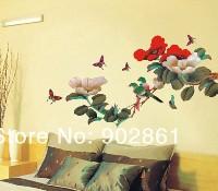 Объемные наклейки на стену цветы 59